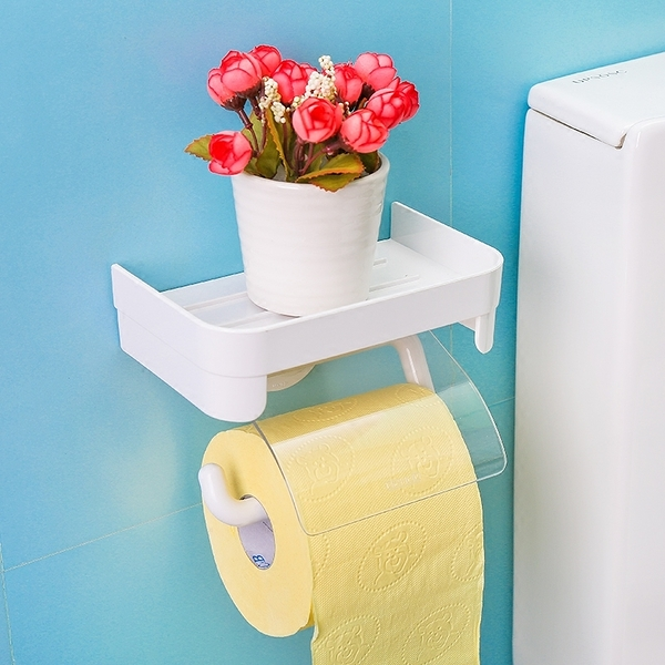 衛生紙架紙巾盒免打孔吸壁式衛生紙架吸盤廁所捲紙架紙筒防水【特價】