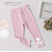 浪漫水鑽小熊粉色內搭褲 可愛 透氣 質感 童裝 男童 女童 女大童 男大童 連帽 長袖 哎北比童裝