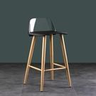 透明水晶吧臺椅吧凳現代鐵藝椅休閒家用高腳凳北歐吧椅【快速出貨】