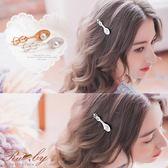 髮飾 歐風明珠湯匙髮夾-Ruby s 露比午茶