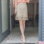 東京著衣【YOCO】經典優雅蕾絲修身纖腰窄裙包裙-S.M.L(180649)