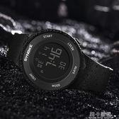 時諾刻防水夜光電子錶男孩女中學生鬧鐘計時多功能運動男士手錶腕igo 莉卡嚴選