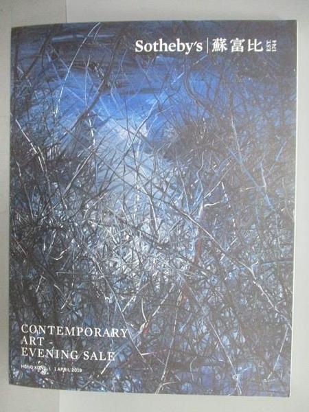 【書寶二手書T9/收藏_PLO】蘇富比_Contemporary Art-Evening Sale_2019/4/1