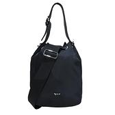 【南紡購物中心】agnes b. 2way束口水桶包-黑