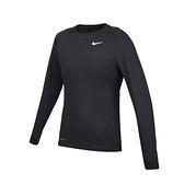 NIKE 男緊身長袖T恤(Dri-FIT 運動 健身 慢跑 上衣 免運 ≡排汗專家≡