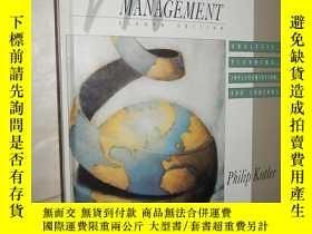 二手書博民逛書店Marketing罕見Management: Analysis,