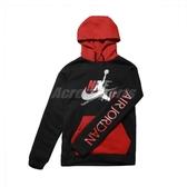 Nike 長袖T恤 Jordan Fleece Hoodie 黑 紅 男款 帽T 喬丹 運動休閒 【PUMP306】 CU1556-011