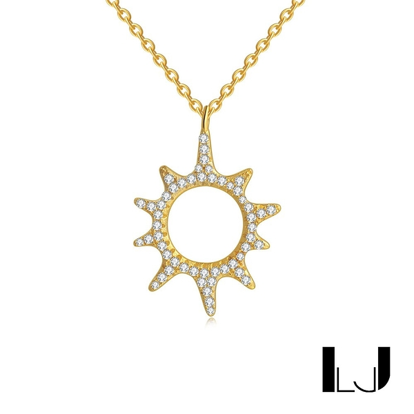 Little Joys 小太陽鋯石項鍊 925銀鍍金 旅美原創設計品牌