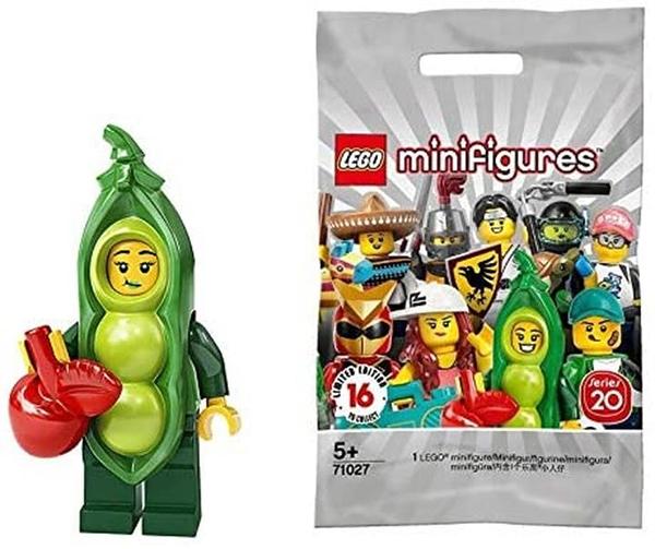 LEGO 樂高 迷你手辦 系列20 豆cosplayay Pea Pod Costume Girl 【71027-3】