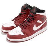 Nike Air Jordan 1 Mid Chicago 紅 白 皮革鞋面 AJ1 喬丹1代 男鞋 運動鞋【PUMP306】 554724-605
