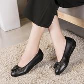 豆豆鞋媽媽鞋軟底女真皮秋冬奶奶皮鞋單鞋舒適防滑平底老人鞋豆豆鞋女鞋