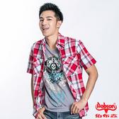BOBSON 男款格紋短袖襯衫(23005-53)