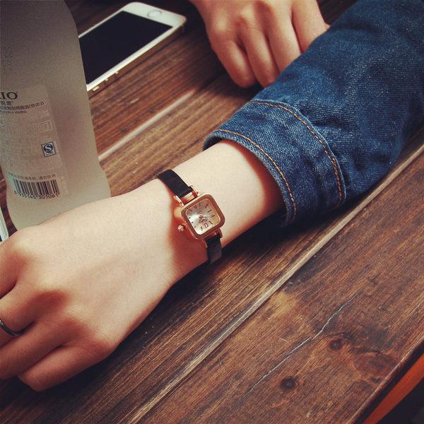漆皮細表鏈 小表盤 手表