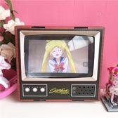少女心復古紙質電視機擺件手機放大鏡手機支架桌面擺件屏幕放大器 芥末原創