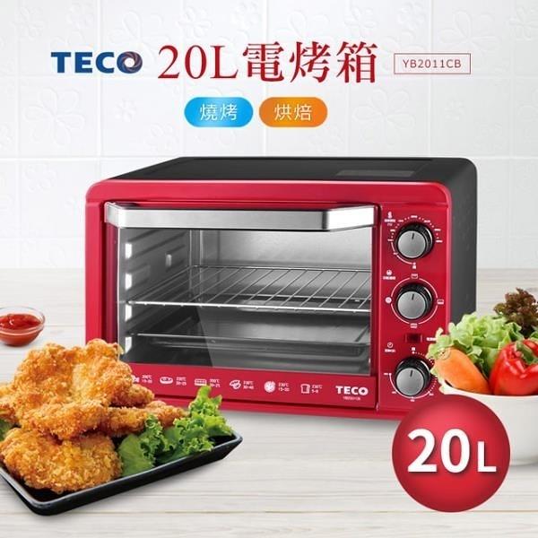 【南紡購物中心】TECO東元 20L電烤箱(紅) YB2011CB