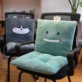 坐墊腰靠墊背一體椅墊辦公室久坐椅子靠背教室學生加厚坐墊榻榻米【快速出貨】