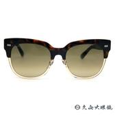 GUCCI 墨鏡 GG3762FS X9QED (玳瑁-透棕) 雙色鏡框 貓眼 太陽眼鏡 久必大眼鏡