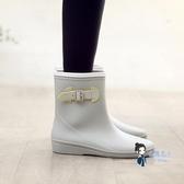 成人雨鞋 環保輕便中筒雨靴防水時尚膠鞋防滑水鞋成人套鞋雨鞋女 3色 35-39