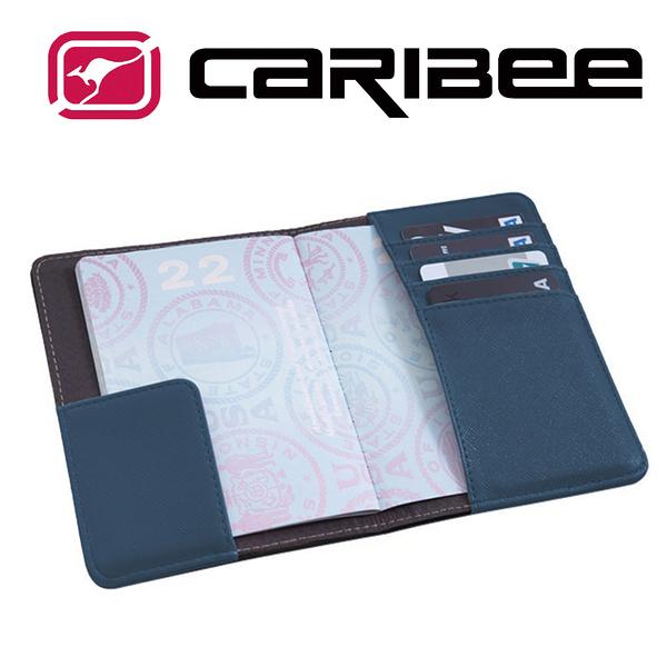 【Caribee 澳洲】RFID 防盜護照證件夾『海軍藍』CB-1394 旅遊.旅行.出國.證件夾.護照夾.收納包.防竊