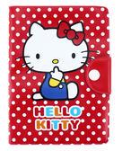 【卡漫城】 Hello Kitty 紅底白點 防水 護照套 ㊣版 證件套 可扣式 卡片套 收納本 點點 護照包