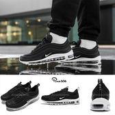 Nike Air Max 97 黑 白 經典 復古慢跑鞋 氣墊 反光 男鞋 【PUMP306】 921826-001