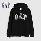 Gap男裝 Logo基本款休閒連帽外套 618866-黑色