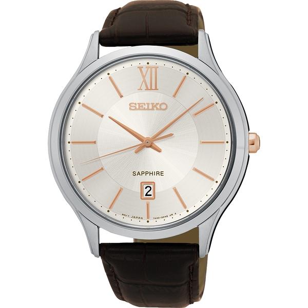 SEIKO 精工 玫瑰金刻度 SGEH55P1 / 7N42-0GG0K 手錶