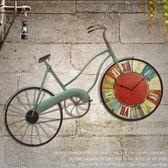 【618好康又一發】復古壁掛件仿真自行車客廳掛鐘表