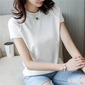 短袖t恤女套頭圓領冰絲打底衫寬鬆薄款針織衫上衣潮 DJ11023『易購3c館』