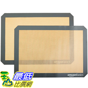 [9美國直購] AmazonBasics 烤盤墊 Silicone Baking Mat Sheet, Set of 2