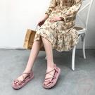 厚底涼鞋 女爆款2020新款百搭夏季韓版仙女沙灘平底女鞋可下水【購物節狂歡】
