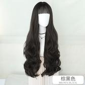 整頂假髮(長髮)-優雅蓬鬆大波浪捲髮女假髮3色73vs107【巴黎精品】