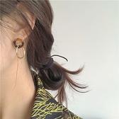 耳釘耳飾韓版復古玳瑁色耳環女圓環拼接【聚寶屋】