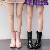 MAIYU 向日葵雨靴女成人韓國時尚雨鞋可愛中筒水鞋夏季防滑水靴潮-享家生活館