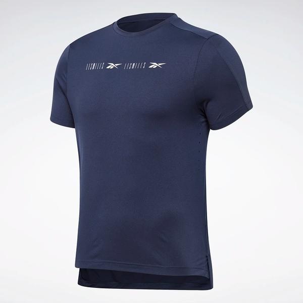REEBOK LES MILLS® PERFORATED 男裝 短袖 慢跑 休閒 反光 排汗 透氣 藍【運動世界】GE1026