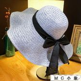 遮陽帽防曬遮臉大沿草帽太陽帽