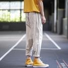 九分休閒褲男夏季薄款工裝褲男直筒寬鬆冰絲長褲子男韓版 米娜小鋪