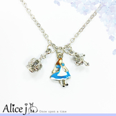 日本原裝 夢幻愛麗絲十字架皇冠 項鍊