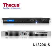 (客訂商品請來電詢問) Thecus 色卡司 N4820U-S 4 Bay NAS 單電源 機架式 網路儲存伺服器