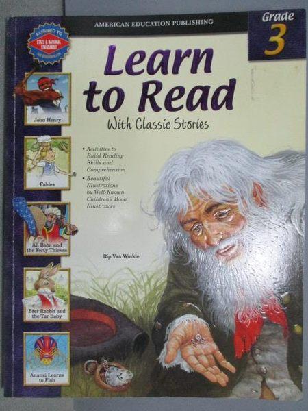 【書寶二手書T6/語言學習_YAF】Learn to Read_Grade 3