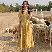 洋裝 2020年新款洋裝子夏季法式大碼女裝輕熟風收腰顯瘦遮胯胖mm洋氣