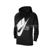 Nike 長袖T恤 NSW Pullover Hoodie 黑 白 男款 帽T 運動休閒 【PUMP306】 CJ5049-010