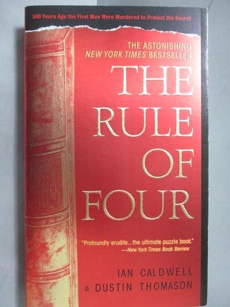 【書寶二手書T5/原文小說_LBB】The Rule of Four_Ian Caldwell