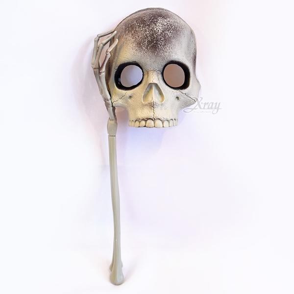 骷髏鬼手面具-組裝式,台灣現貨/萬聖節/面罩/派對/表演/恐怖/尾牙/頭套,節慶王【W103301】