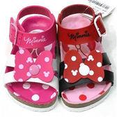 【錢豪童裝童鞋】16號|迪士尼米妮休閒涼鞋