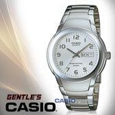 CASIO卡西歐 手錶專賣店 國隆 MTP-1229D-7A 指針男錶 不鏽鋼錶帶 白 防水