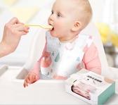 寶寶一次性圍兜飯兜嬰兒喂飯圍嘴防水超軟小孩寶寶吃飯防臟神器