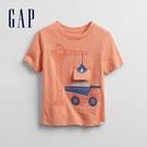 Gap男幼童 互動趣味印花圓領短袖T恤 673450-橙色
