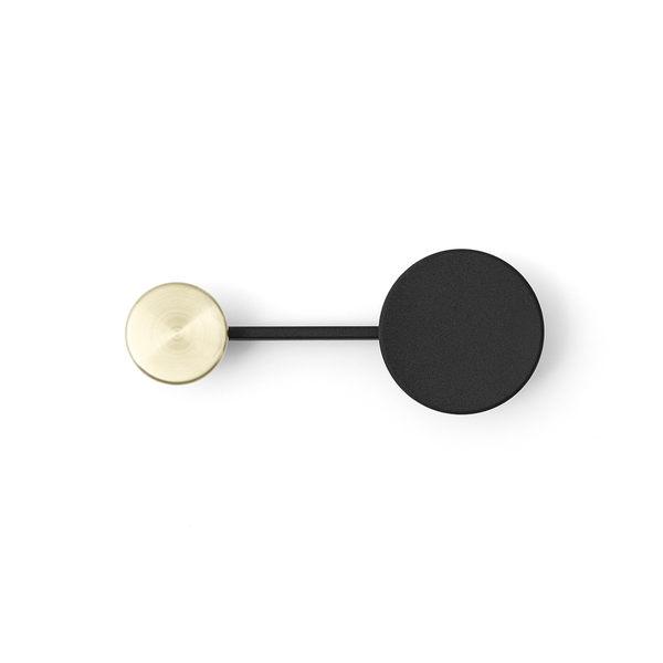 丹麥 Menu Afteroom Coat Hangers in Small 雙點系列 衣帽收納 金屬 壁掛勾(黑色 + 黃銅色)