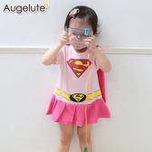 造型包屁裙 女超人 披風 女寶寶 連身衣 披風 哈衣 爬服 Augelute Baby 32001